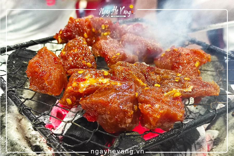 Đặc sản Bò nướng lạc cảnh Nha Trang